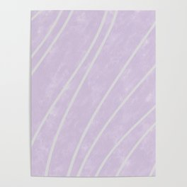 Purple Points in Oils Poster