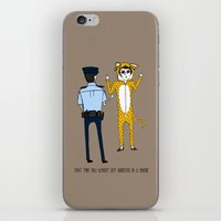 onesie iPhone & iPod Skins featuring The Onesie Rebel by Hashtag No Filter