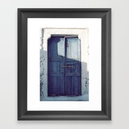 Santorini Door I Framed Art Print