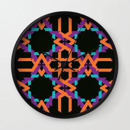 Juxtaposed shapes Wall Clock