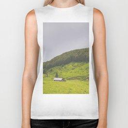 Countryside house & hill Biker Tank