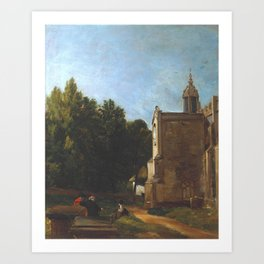 John Constable 1776–1837   The Church Porch, East Bergholt Art Print