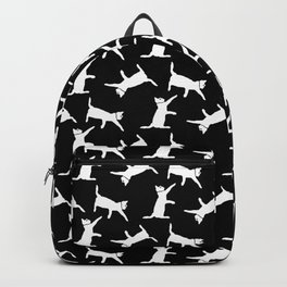 Cats-White on Black Backpack