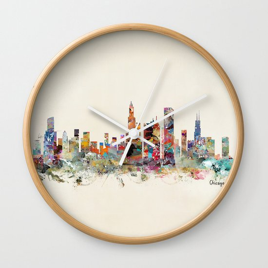 Chicago city  Wall Clock
