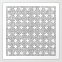 Small Swiss Cross Art Print