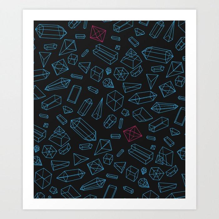 Crystals Pattern Art Print