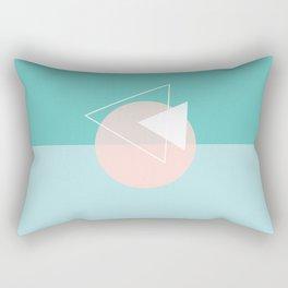 Pink circle Rectangular Pillow