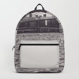 Brooklyn Bridge, New York, black & white photo, NY fine art print, B&W city landscape Backpack
