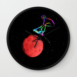 Moon Grabber - Stunt Scooter Rider Wall Clock