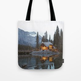 scenic beauty house in deep valley Tote Bag