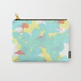 Primroses and flamingos Carry-All Pouch