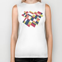 matisse Biker Tanks featuring Map Matisse Stretched by Project M