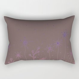 Doodle Garden Digital Art Rectangular Pillow
