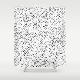 Black and white dots Shower Curtain