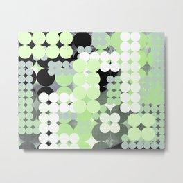 Agender Pride Layered Abstract Circle Grids Metal Print