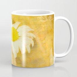 Textured Daisy Coffee Mug