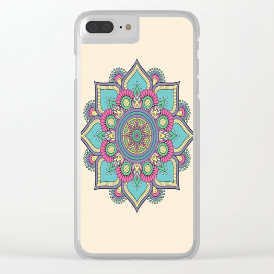 Floral Mandala Clear iPhone Case