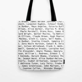 African American Literary Rebels Tote Bag