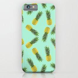 blue pineapple pattern iPhone Case