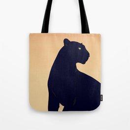Sunset Black Panther Tote Bag