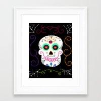 selena gomez Framed Art Prints featuring Gomez by Designs By Misty Blue (Misty Lemons)
