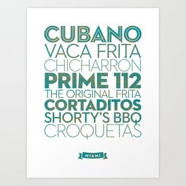Miami — Delicious City Print Art Print