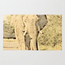 Vintage Animals - Elephant Rug