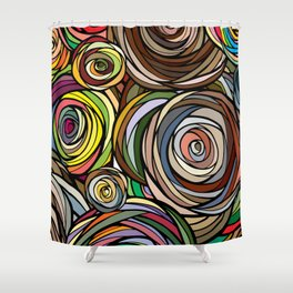 Rubberbands Shower Curtain
