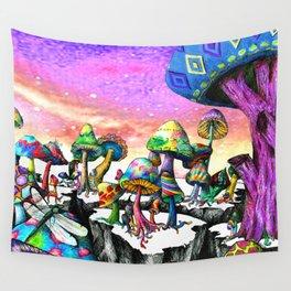 Mushroom Paradise Wall Tapestry
