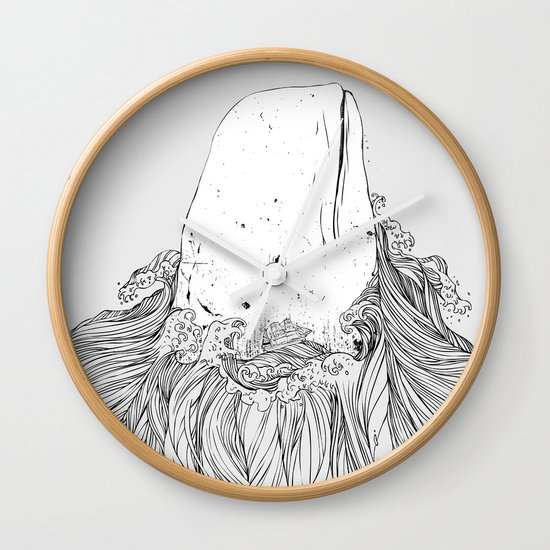 The White Whale  Wall Clock