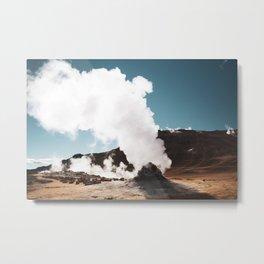 Desert Steam Vents Metal Print