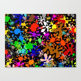 Colourful Fun Paint Blots and Stains Canvas Print