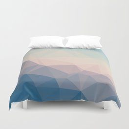 BE WITH ME - TRIANGLES ABSTRACT #PINK #BLUE #1 Duvet Cover