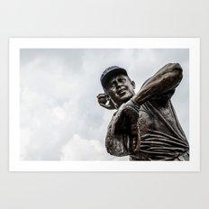 Ron Santo Statue - Wrigley Field Art Print