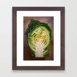 Brassica Fractal Framed Art Print