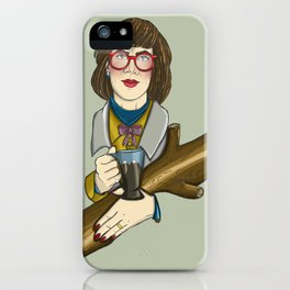 Twin Peaks - The Log Lady iPhone Case