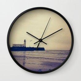 Scarborough Beach Redscale Wall Clock