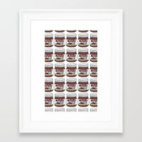 nutella Framed Art Prints featuring Nutella Love by Gabriela Riveros