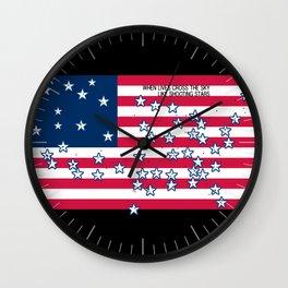 Shooting Stars - lives cross the sky Wall Clock