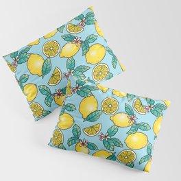 Tropical Vibe Lemon Pattern Pillow Sham