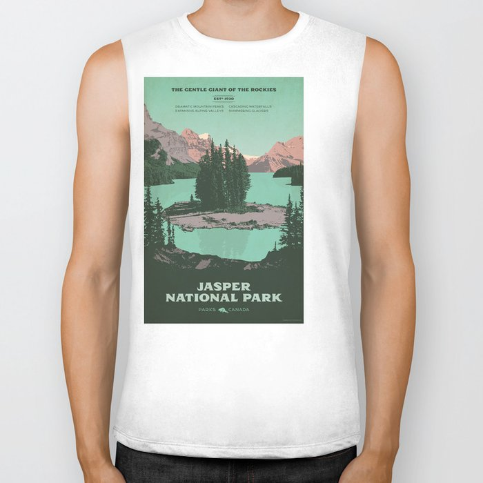 Jasper National Park Poster Biker Tank