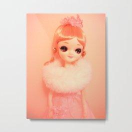 Pretty Pink Pose Doll Metal Print