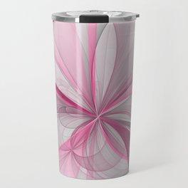 The Birth of Pink, Abstract Fractal Art Travel Mug