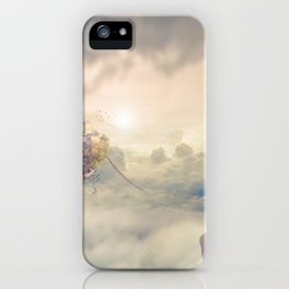 Wonderful Beautiful Fantasy Princess Levitating Kingdom In The Heaven Clouds Dreamland Ultra HD iPhone Case