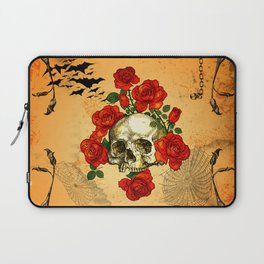 Skull with roses Laptop Sleeve
