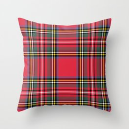 Red & Green Tartan Pattern Throw Pillow