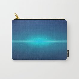 Blue Abstract Light Burst Design Carry-All Pouch