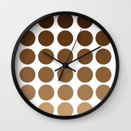 Monochrome Brown Circles Wall Clock