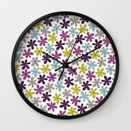 Allium Ditsy Wall Clock