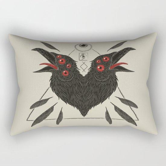 Corvus Corax Rectangular Pillow